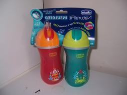 Chicco NaturalFit Insulated FlipTop Straw Sippy Cup crab rac