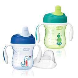 Chicco NaturalFit Semi Soft Spout Trainer Sippy Cup, Green/B