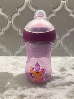 Chicco NaturalFit Straw Trainer Sippy Cup, Purple, 9 Month+,
