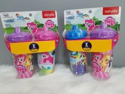 NEW 4 pieces Playtex Sipsters Stage 3 My Little Pony Spill-P