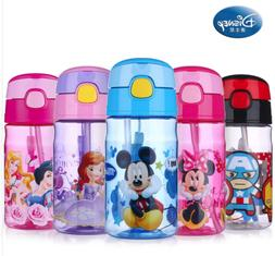 NEW Baby Kids Children Disney School Drinking Water Straw Bo