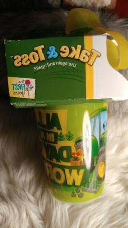 NEW John Deere Take & Toss Sippy Cups 3 Pack with Bonus Trav