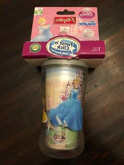 New Playtex Sippy Cup Twist Click Disney Princess Leak Spill