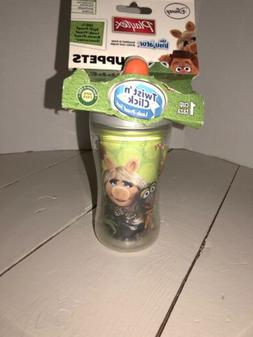 New Playtex Sippy Cups Twist Click Disney Muppets Leak Spill