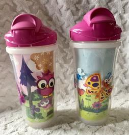 NEW Playtex Sipsters Stage 3 Straw Sippy Cups Girls 9 Ounce
