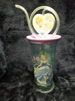 New Disney Store Cinderella Sippy Cup with Swirly Straw Plas