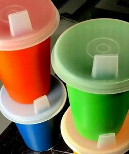 Tupperware NEW Vintage Bell Tumbler SIPPY Cups 7oz Set Of 4