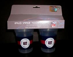 New York Giants NFL 5oz Spill Proof Sippy Cup 2 Pack BPA Fre