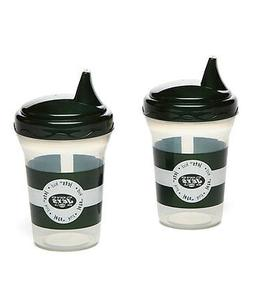 New York Jets Spill-Proof Sippy Cup Set NWT
