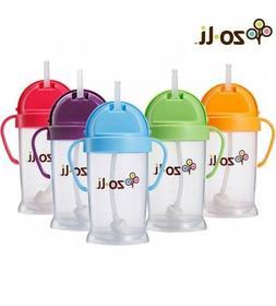 NEW Zo-Li Bot Straw Sippy Cup 6oz Bottle Zoli Baby Orange Gr