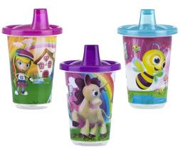 NIP NUBY 92609 Wash or Toss Sippy Cup 10oz  3pk  BPA FREE gi