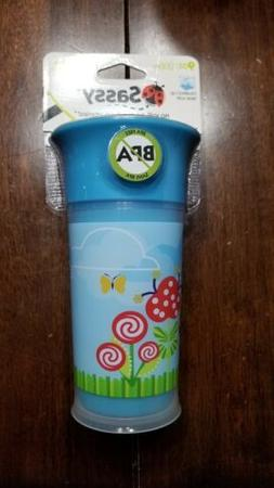Sassy No Spill 9oz Flowers Nature BPA Free Sippy Cup-NEW 360