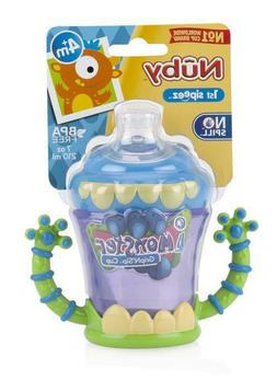 Nuby iMonster GripN'Sip Sippy Cup - No Spill - SoftFlex Valv