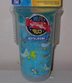 Nuby light up fun insulated sippy  360 cup new skates 6+Mont