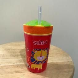 Nuby Snack N' Sip Straw No Spill Sippy Cup
