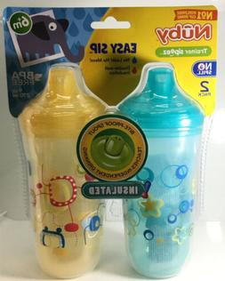 Nuby Trainer Sipeez Easy Sip Fun Sippy Cup Insulated 9oz Tod