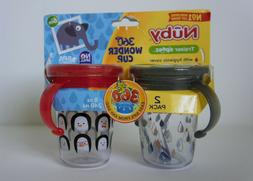 Nuby Trainer Sippy 8oz Two Handle Wonder Cup with Hygienic C