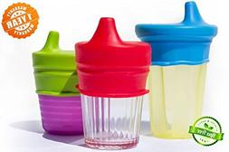 7a4da068056 O-Sip! Silicone Sippy Lids - - BPA-Free - Converts any Glas
