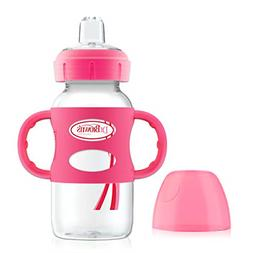 Options Wide-Neck Sippy Spout Baby Bottle with Silicone Hand
