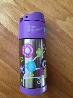 Owl sippy cup with straw thermos