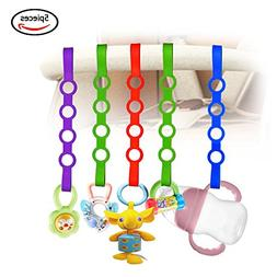 Baby Pacifier Clips,5 Pack Stretchable Silicone Toy Safety S