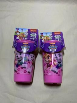 Paw Patrol Set of 2 Pink Playtex Spoutless Cups 10oz Stage 2