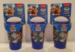 Paw Patrol Set of 3 Blue Playtex Spoutless Cups 10oz Stage 2