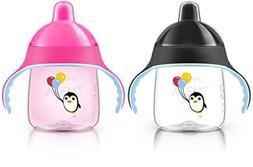 Philips AVENT My Penguin Sippy Cup, Pink, 9 Ounce  by Philip