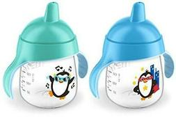 Brand New Philips Avent My Penguin Sippy Cup, Blue, 9 Ounce