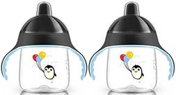 Philips AVENT My Penguin Sippy Cup, Black/Black, 9 Ounce