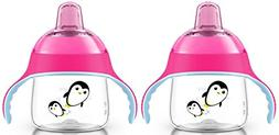 Philips Avent 7 Ounce My Penguin Sippy Cup, 2 Pack, Pink/Pin