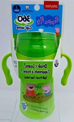 Playtex Peppa Pig 360 Sippy cup new 9M+ 10oz  Drink & Learn