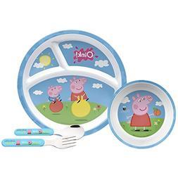 Peppa Pig Mealtime Set with Plate, Bowl, Fork & Spoon, Break