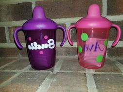 💜Personalized Sippy Cup  Monogrammed Toddler Handled 💜