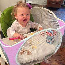 The Original Tray Buddi - Pink - It's a Playpen for High Cha