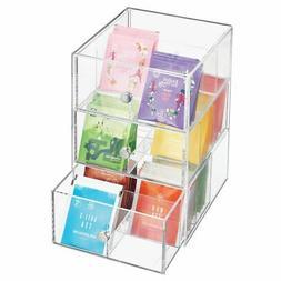 mDesign Plastic Kitchen Storage Tea Organizer, 3 Drawers -18