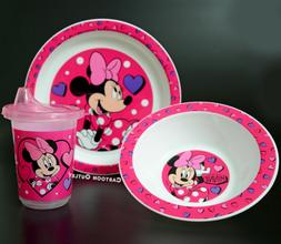 Disney Plate Bowl and Learner Sippy Cup Kids 3 pc Dinner set