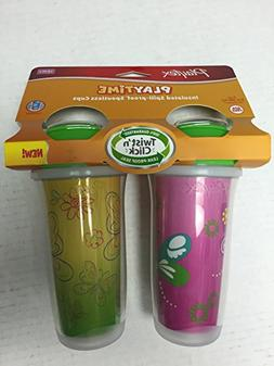 Playtex Playtime Girls Insulated Spoutless Cups, 2 Count