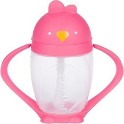 Posh Pink, Stylish Kids Straw Sippy Cup with Straw Cleaning
