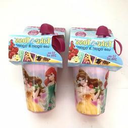 Disney Princess Sippy Cups 9+ Months Take & Toss No BPA Spil