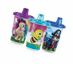Nuby 3-Pack Printed Wash or Toss Spout Cups, Styles May Vary