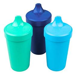 Re-Play Made in USA 3pk Toddler Feeding No Spill Sippy Cups