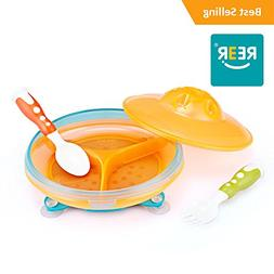 ReeR Section Plate- Divided Plate With Lid for Infant Toddle