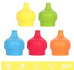 Safety For Kids Silicone Sippy Lids - Make Most Cups a Sippy