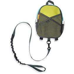 by-my-side safety harness backpack, green/blue