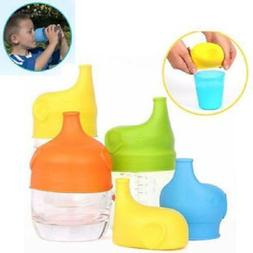 Safety Silicone Sippy Lids Cup Food Grade Bottle Leak Proof