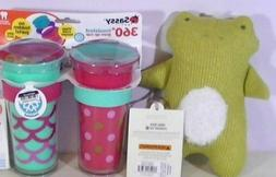 Sassy Tritan & Poly Insulated 9oz Cup & Cloud Island Frog Ra