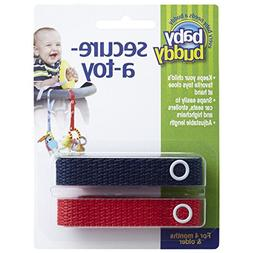 Baby Buddy Secure-A-Toy, Navy/Red