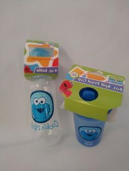 Sesame Street Cookie Monster 9oz Feeding Bottle& SIPPY Cup+