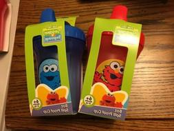 Set of 2 - Cookie Monster and Elmo Sippy Cup 8oz  6M +